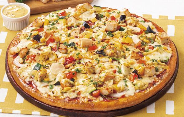 サラダチキンとハニーマスタードのピザ ネット用